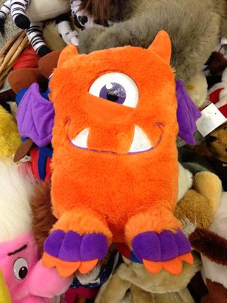 Ett visserligen orange gosedjur, men hu så hiskeligt!