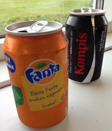 Fanta och Cola zero Kompis