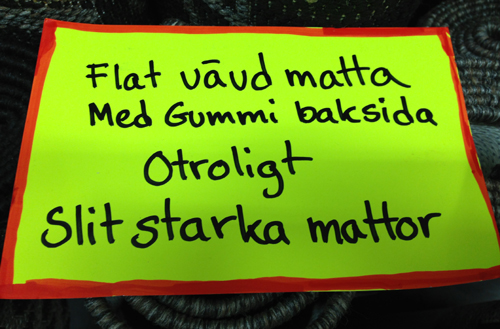 Flat vävd matta