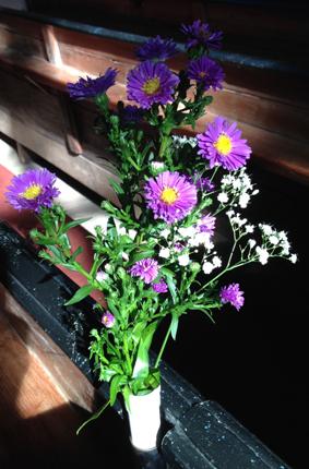 Blommor i kyrkan