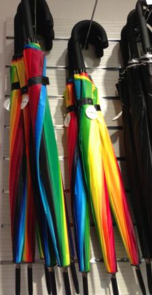 Regnbågsparaplyer