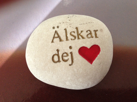 Älskar dej sten