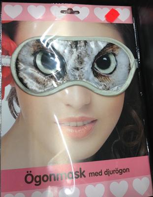 Ögonmask med djurögon