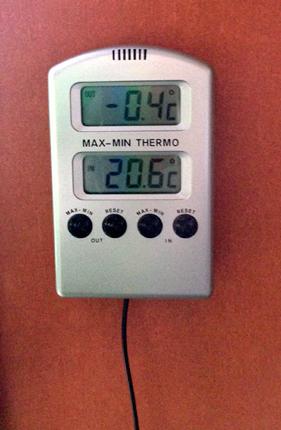 Termometer med minusgrader
