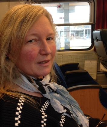 Anna på tåget