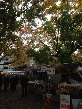 Marknad på Vaksala torg