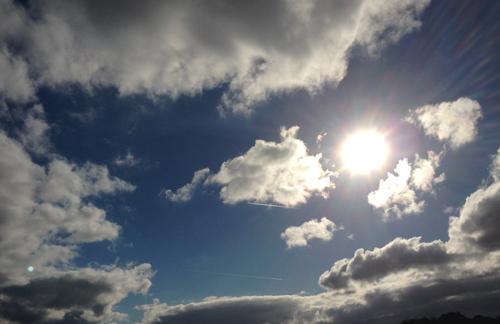 Moln och sol