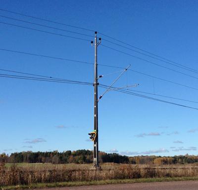 Signal vid järnvägsspåret