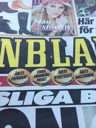 Aftonbladet förstasida papperstidning