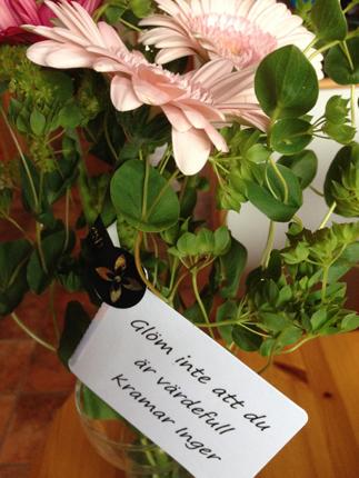 Blommor från Inger