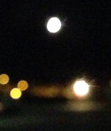 Månen en oktobernatt 2013