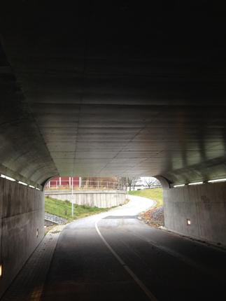 Cykel o gångtunnel