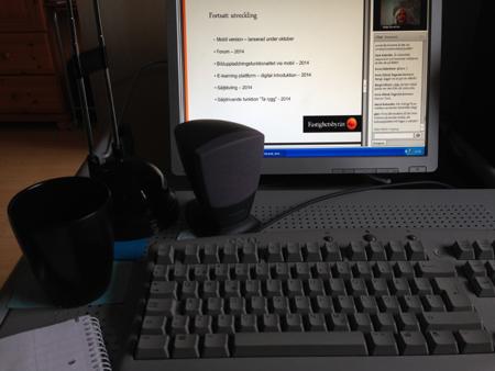 Webinar vid datorn