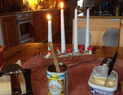Adventsfrukost