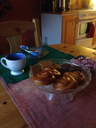 Eftermiddagskaffe i december utan gäst