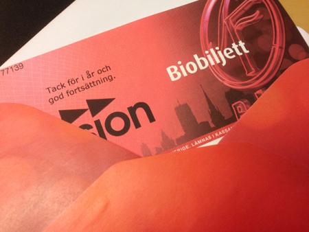 Biobiljett fr Vision