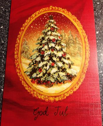 Julkort från Tant Raffa