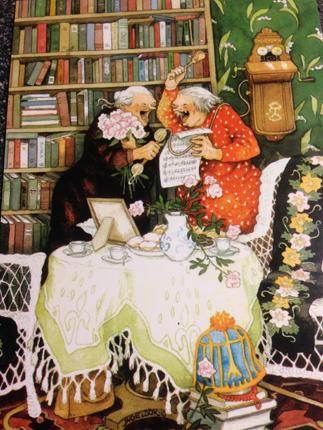 Par sjunger i bibliotek