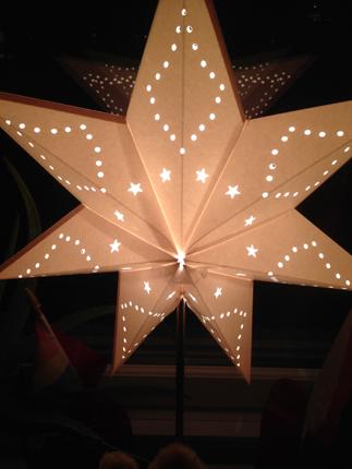 Vit stjärna arbetsrum