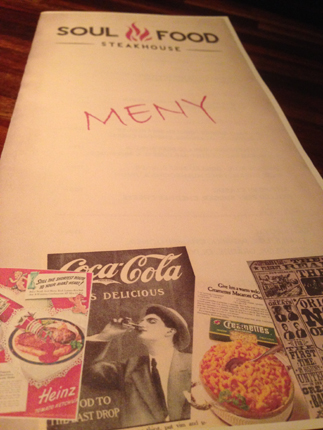 Soulfood meny