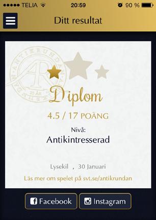 Antikrundan diplom från Lysekil