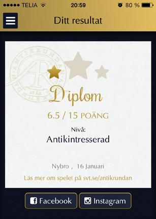 Diplom Antikintresserad