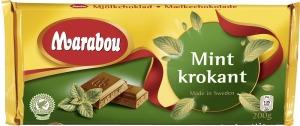 Mintkrokant choklad från Marabou