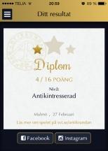 Antikrundan diplom Malmö