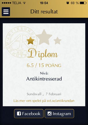 Antikrundan Sundsvall diplom
