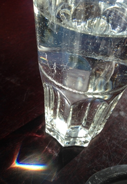 Hjärta vid vattenglas