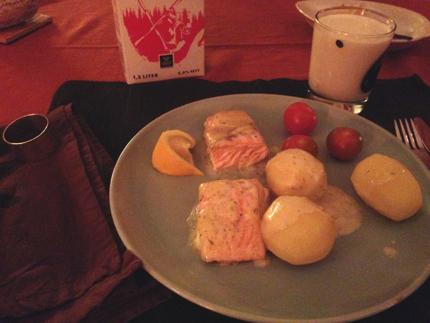 Lax potatis tomater o sås