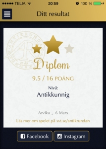 Diplom Antikrundan Arvika