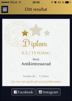 Diplom Antikrundan Sundsvall 13 mars 2014