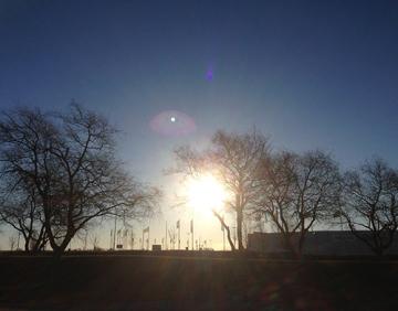 soluppgång marsmorgon