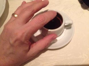 En liten kopp grekiskt kaffe