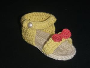 Irenes virkade sandal
