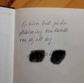Annas mamma skrev i födelsedagsboken