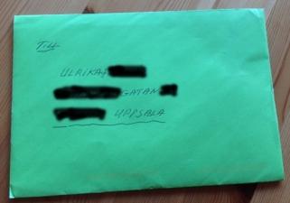 Grönt kuvert