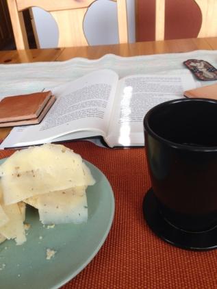 Scone och kaffe