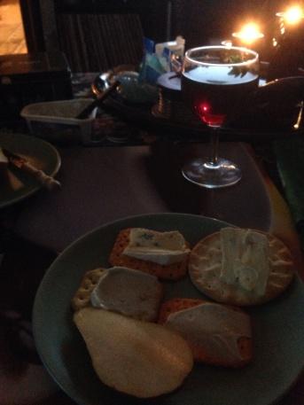 Ost, kex , päron och vin