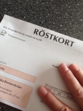 Röstkort EU-valet