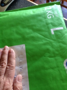 Två kilo grönt paket