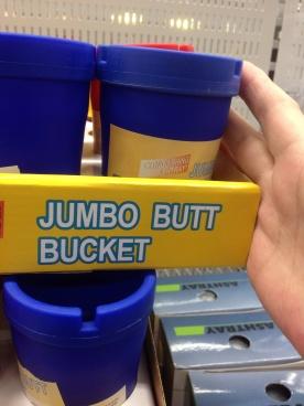 Jumbo butt bucket