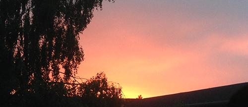 Kvällshimmel i juni enkel
