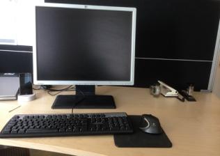 Tömt skrivbord på jobbet