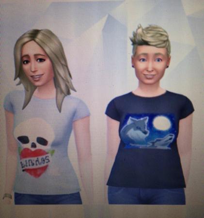 Anna o jag som Sims