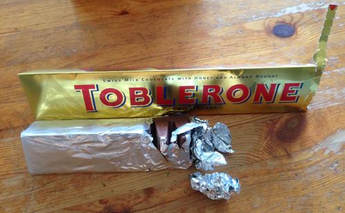 En halv Toblerone