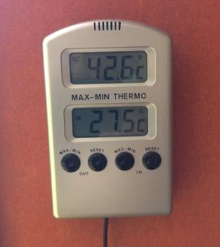 Nästan 43 grader