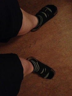 Shortsben med strumpor