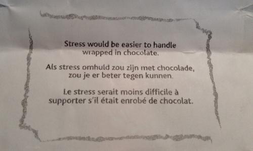 Stress och choklad